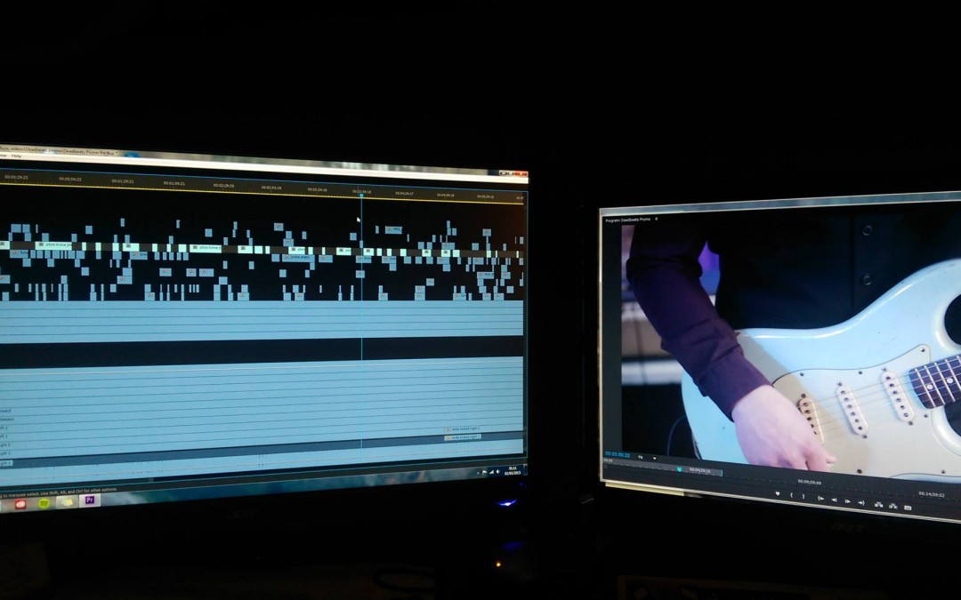 Busy Editing a New Promo Video